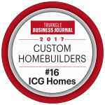 Triangle Business Journal 2017 Custom Homebuilders