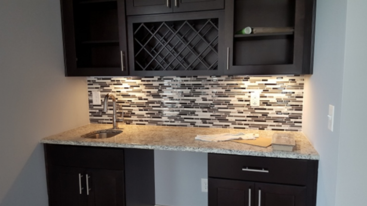 counter and backsplash