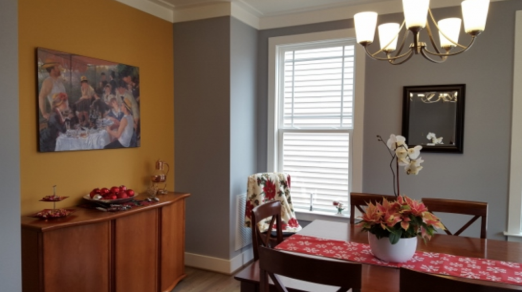 finished dining room