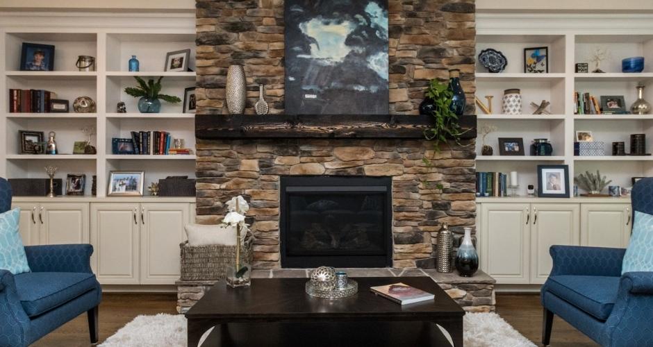 ICG custom home living room