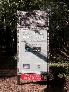 Gates at Ethan's Glen Entry Signage, 4-15